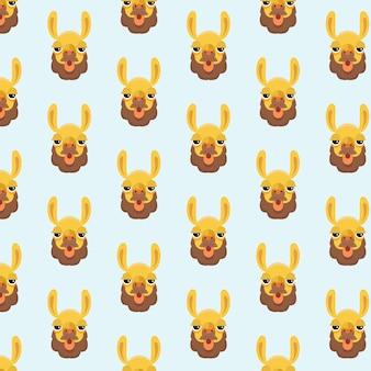 Naadloos patroon, alpaca kunst achtergrondontwerp voor stof en decor.