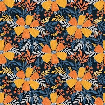 Naadloos patroon bloemelegant bloemenontwerpbotanische print mode print