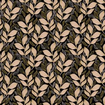 Naadloos patroon bloemen abstractbotanisch vintage natuur backgroundprint mode textiel