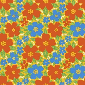 Naadloos patroon bloemen bloem abstractbotanisch vintage natuur backgroundprint mode textiel