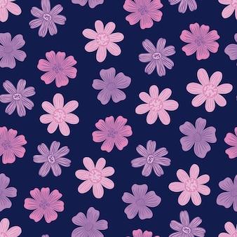 Naadloos patroon botanisch bloemenknop bloemnatuur achtergrond printdecoratief behang