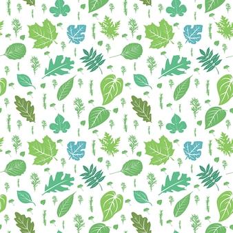 Naadloos patroon die groene bloemenaard herhalen