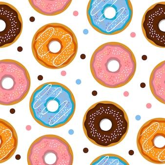 Naadloos patroon donuts