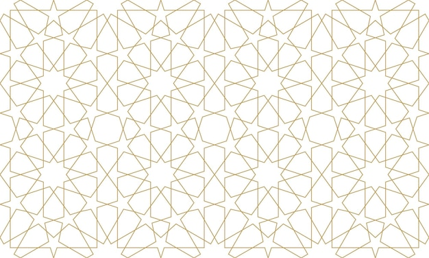 Naadloos patroon in authentieke arabische stijl. vector illustratie