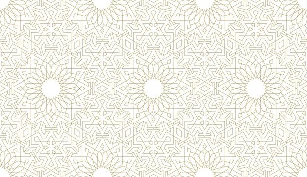 Naadloos patroon in authentieke arabische stijl.