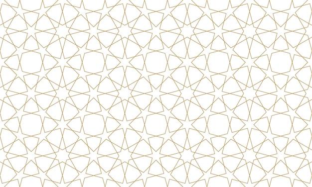 Naadloos patroon in authentieke illustratiestijl