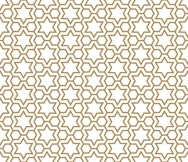 Naadloos patroon in gouden en wit