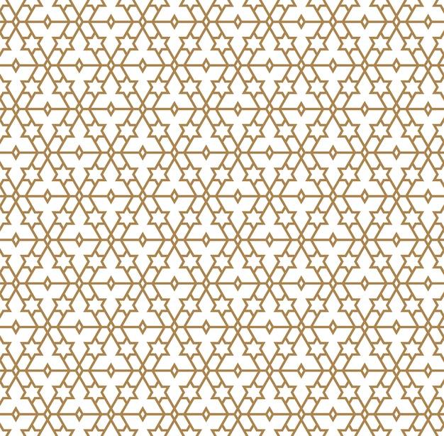 Naadloos patroon in gouden gemiddelde lijnen.