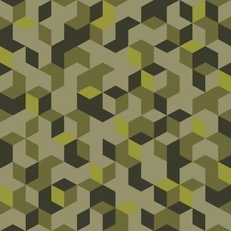 Naadloos patroon in militaire stijl is geschikt om af te drukken.