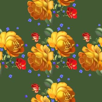 Naadloos patroon in russische in traditionele stijl.