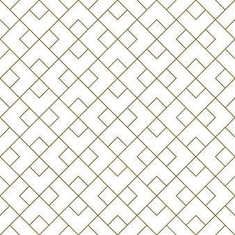 Naadloos patroon in stijl kumiko zaiku in bruine lijnen. gemiddelde dikte.