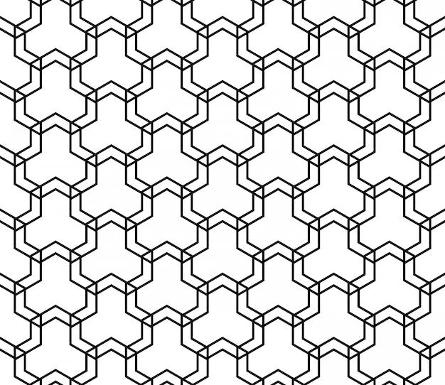 Naadloos patroon in zwart en wit