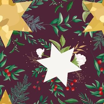 Naadloos patroon kerst ornament ontwerp