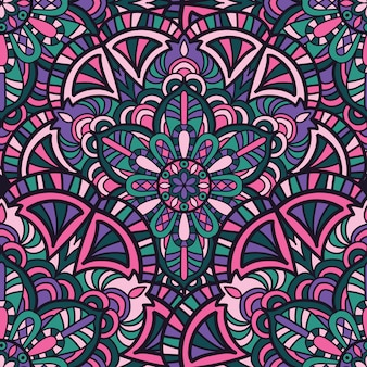 Naadloos patroon mandala vectorontwerp voor druk. tribal ornament.