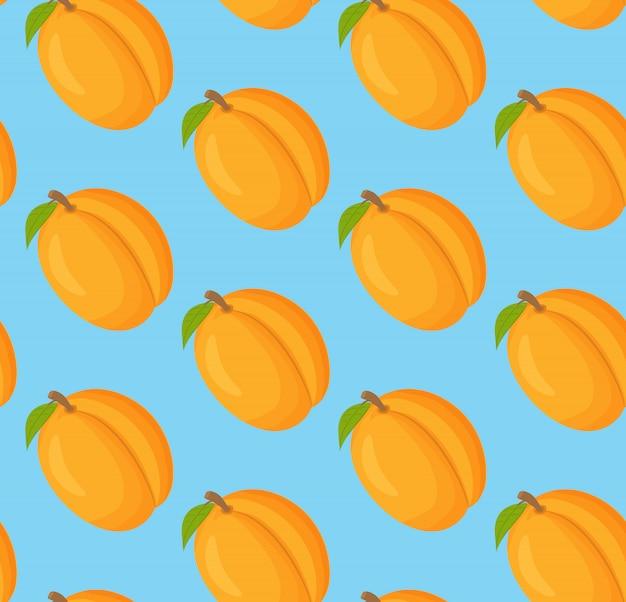 Naadloos patroon met abrikozen.
