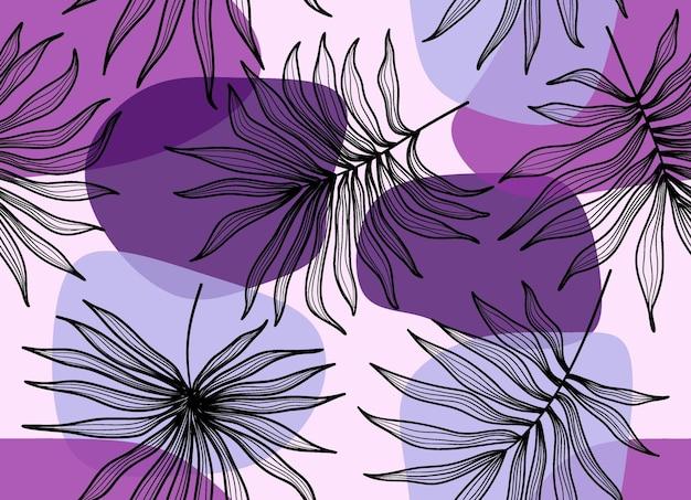 Naadloos patroon met abstract verlof.