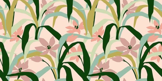 Naadloos patroon met abstracte bladeren