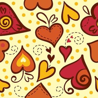 Naadloos patroon met abstracte harten