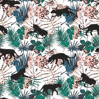 Naadloos patroon met abstracte luipaarden