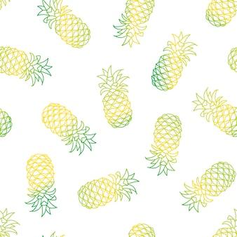 Naadloos patroon met ananas.