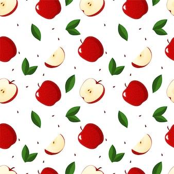 Naadloos patroon met appelsontwerp