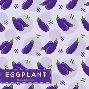 Naadloos patroon met auberginegroenten