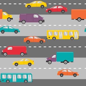 Naadloos patroon met auto's