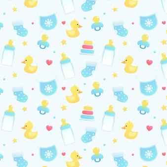 Naadloos patroon met babys-elementen
