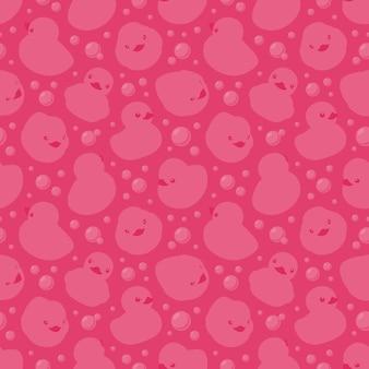 Naadloos patroon met badeendjes