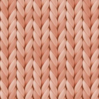 Naadloos patroon met beige gebreide wol
