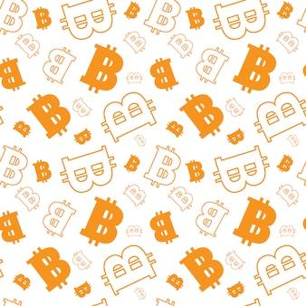 Naadloos patroon met bitcoins