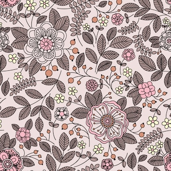 Naadloos patroon met bloemen