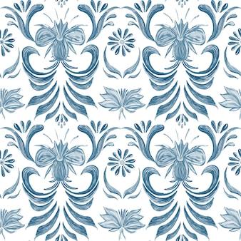 Naadloos patroon met bloemenachtergrond.