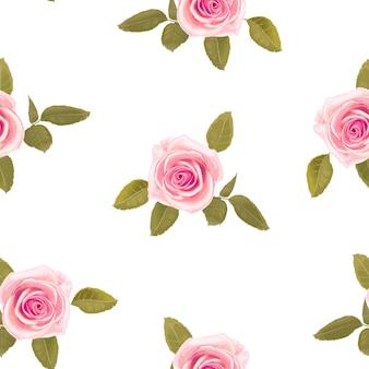 Naadloos patroon met bloemenrozen.