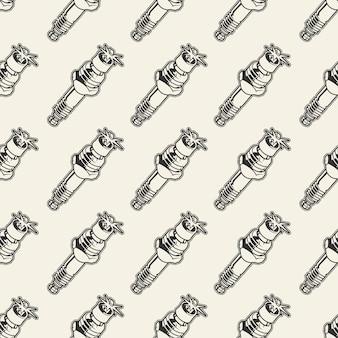 Naadloos patroon met bougie