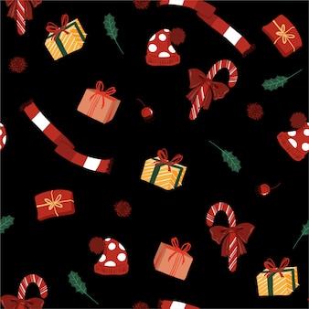 Naadloos patroon met cadeautjes