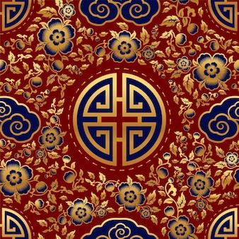 Naadloos patroon met chinese versieringen