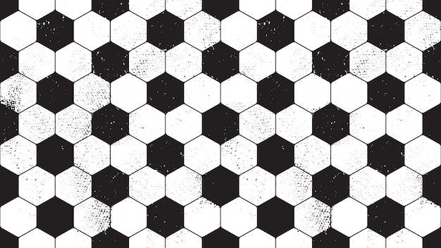 Naadloos patroon met de baloppervlakte van het grunge vuile voetbal. vector eindeloos voetbalpatroon.