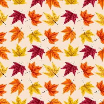 Naadloos patroon met de herfstbladeren. illustratie