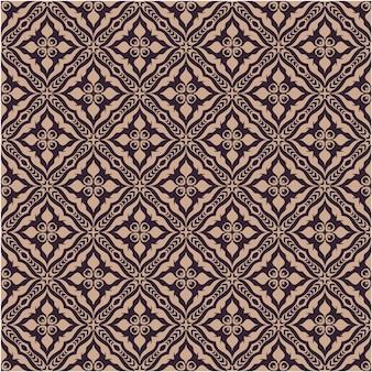 Naadloos patroon met de stijl van het damastmotief