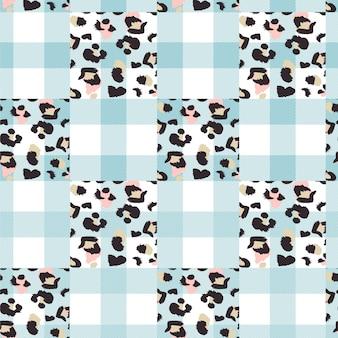 Naadloos patroon met dierlijke print