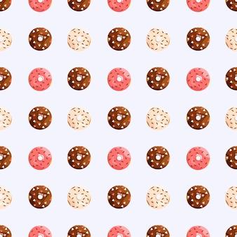 Naadloos patroon met donuts snoep