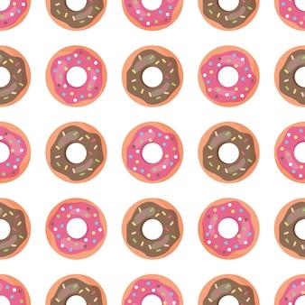 Naadloos patroon met donuts.