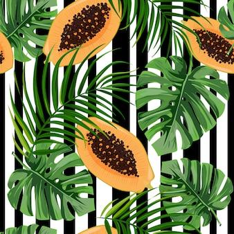 Naadloos patroon met drakenfruit.