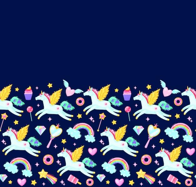 Naadloos patroon met eenhoorns