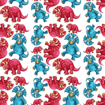 Naadloos patroon met fantasie dinosaurussen cartoon