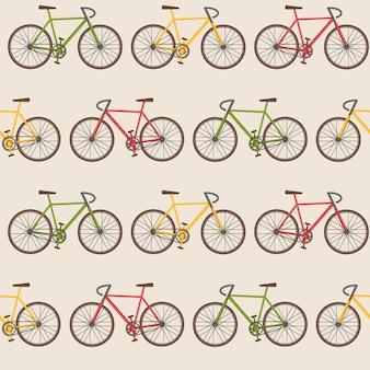 Naadloos patroon met fietsen