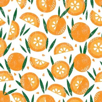 Naadloos patroon met fruit