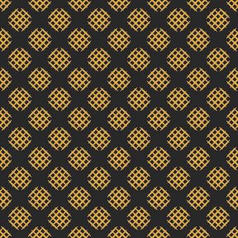 Naadloos patroon met gearceerde cirkels. abstracte achtergrond in zwarte en gouden kleuren.