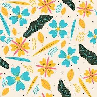 Naadloos patroon met gele en blauwe kleuren